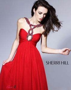 #SherriHill 1455 Strappy Red Prom Dress!  #prom #promdress #InternationalProm #Prom360