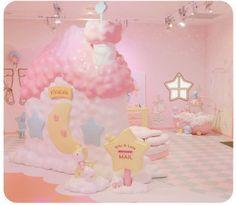 Sanrio Puroland - Little Twin Stars Kawaii Shop, Kawaii Cute, Kawaii Bedroom, Baby Pink Aesthetic, Cute Furniture, Otaku Room, Pastel Room, Sanrio Characters, Little Twin Stars