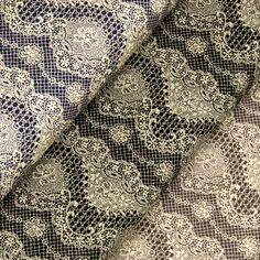 White Rococo Cotton Crochet Lace Vintage Style Circles M351