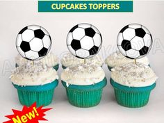 Printable SPORTS Cake pop Topper, cupcakes toppers, SOCCER Football Futbol, pick #SPORTS #party