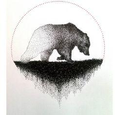 Nómada. #dotwork #artwork #illustration #tattoodesign #tattoo #art #draw #drawing #dotartwork #pointillism #puntillismo #ilustración