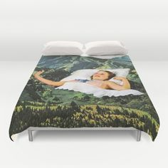 Rising Mountain Duvet Cover by Eugenia Loli - $99.00