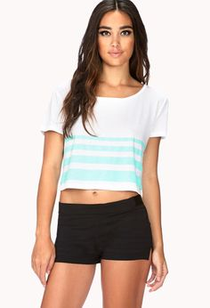Striped Workout Crop Top | FOREVER21