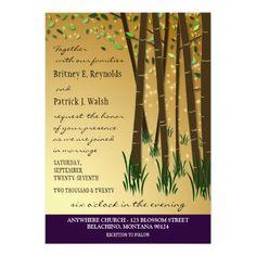 Purple Green Enchanted Forest Wedding Invitations