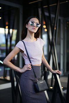 Tina Sizonova: Intricately Designed Retro Horned Rim Revo Lens Sunglasses 9754