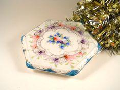Antique China Flowered Trivet