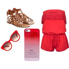 Red by candelita-del-pino on Polyvore featuring moda, Valentino and Equipment