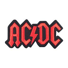 ACDC Band Patch Embroidered Punk Music Iron On Sew On Patch