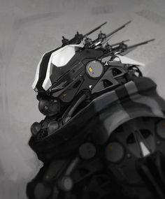 Cyberpunk, Cyborg, Future, Military Robot, Power up!