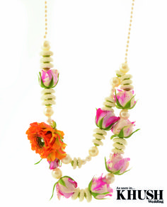 Pretty necklace by Flowerescent T: +44(0)7533 052 737 E: inquiry@flower-escent.co.uk W: flower-escent.co.uk As seen in the Winter 2013 Issue of Khush Wedding Magazine