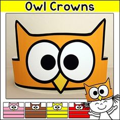 Beginning of the Year - Owl Crowns for the first day of school, rewards, team identifiers or parties.Your students will love these bright and fun owl theme crowns! Use the crowns for the first day of school, to give as rewards for good behavior, to identify teams when playing games or for classroom parties.