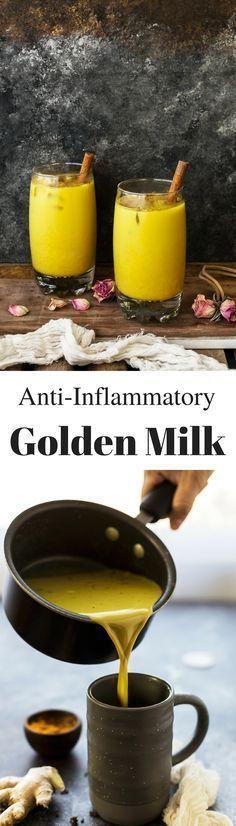 Golden Milk -- almond/cashew/hemp milk, turmeric, ginger, cinnamon, maple syrup/honey/dates, black peppercorn, cardamom seed, vanilla, coconut oil -- via @thedealmatch