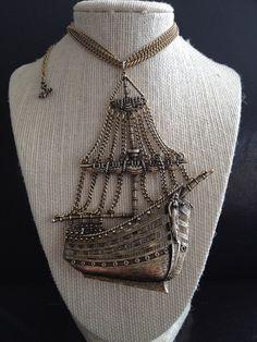 Vintage Metal Pirate Ship. $108.00, via Etsy.