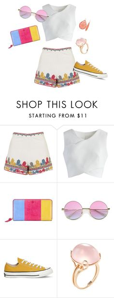"""hyppi chic"" by maryem-ben-hcine on Polyvore featuring mode, Topshop, Chicwish, Tory Burch, Converse et Goshwara"
