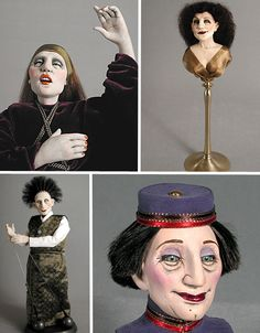 Not all dolls are for children – as evidenced by the incredibly bizarre and amazing art dolls, puppets and sculpture of these 15 artists. Creepy Hand, Weird Toys, Fantasy Dolls, Automata, Dollhouse Dolls, Handmade Dolls, Puppets, Amazing Art, Art Dolls