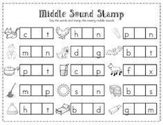 Literacy Center Freebie. Also has Beginning Sound Stamp page.