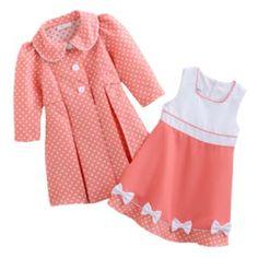 Bonnie Jean Coat & Dress Set - Toddler - cute for my grandbabies
