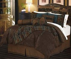 tourqouise and paisly bed  | Del Rio Western Bedding - Free Shipping!
