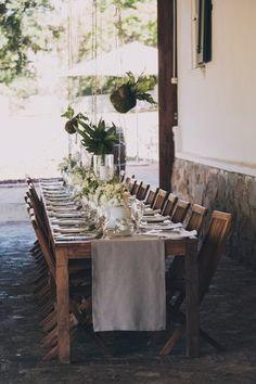 Outdoor Wedding in White & Green {Dornier Wine Estate} | Confetti Daydreams - Outdoor white & green table scape ♥  ♥  ♥ LIKE US ON FB: www.facebook.com/confettidaydreams  ♥  ♥  ♥ #White #Green #Outdoor #Wedding