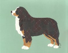 Love these paper cutout dogs on Etsy crom Canine CutUps ... Bernese Mountain Dog Cut Up for $35