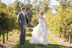 A fall winery vineyard wedding at The Harvest House at Lost Creek Winery in Leesburg, Virginia photographed by Maryland wedding photographer Christa Rae Photography