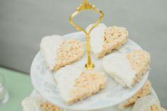 heart shaped rice crispy treats! photo by Paige and Blake Green