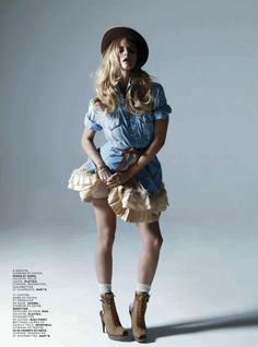 """""""Viva Marloes"""" ~ Marloes Horst by Sol Sanchez for Jalouse, March 2010"""