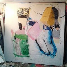 Old wigs. 202x202cm. On canvas #marcopariani