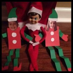 Elf crafts paper elves with kids photo for face. Christmas Elf, Christmas Crafts, Awesome Elf On The Shelf Ideas, To Do App, Der Elf, Elf Auf Dem Regal, Elf Magic, Elf On The Self, Naughty Elf