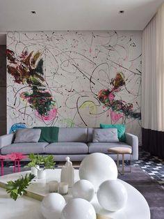 Cores Vibrantes E Peças Artsy Dão Tom Contemporâneo à Casa Chinesa. Modern  ColorsContemporary Wall ArtHome Decor IdeasInterior ...