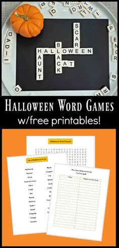 These creative Halloween Word Games include FREE printables & are perfect for kids, tween, teens, adults and party activities! Halloween Word Search, Halloween Words, Halloween Games, Halloween Activities, Easy Halloween, Halloween Party, Printable Activities For Kids, Party Activities, Free Printables