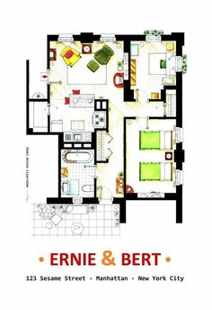 Bert Ernie Ny Apt Sims 4 House Plans Floor Mad About