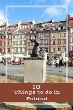 10 Things to do in Poland. Top sites in Warsaw and Krakow including Rynek Museum, Wieliczka Salt Mine, Auschwitz/Birkenau, Oskar Schindler's Enamel Factory