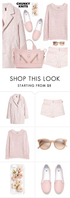 """""""Chunky Knits"""" by shoaleh-nia ❤ liked on Polyvore featuring H&M and Kenzo"""