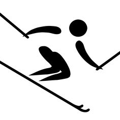 Alpine skiing pictogram - Esquí alpino en los Juegos Olímpicos de Pyeongchang 2018 - Wikipedia, la enciclopedia libre