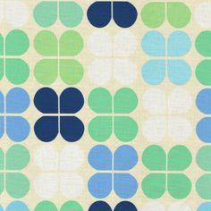 Geo Pop Canvas Flower Squares - Lagoon