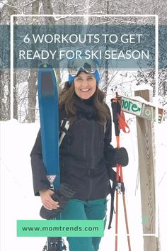 As an avid skier and a lover of most winter sports, I take the pre-season pretty seriously. Fall is the time to make sure I ramp up my fitness routine so I can enjoy the snow all winter long. I like variety, so I've rounded up six workout to get you ready for ski season. #workouts Best Skis, Ski Gear, Ski Season, Winter Sports, Workout Videos, Get Healthy, At Home Workouts, Fitness Tips, Skiing