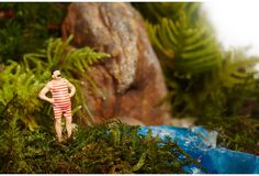 "One Kings Lane - It's a Small World - 17"" Male Swimmer Terrarium"