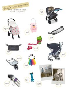 Best Stroller Accessories, need to get a few of these for the trip