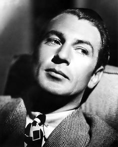 My favorite actor from the Golden Age of Hollywood. Gary Cooper! <3 He was gorgeous! ;)