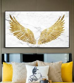 Luxurious Golden Wings On Marble Background Wall Art Fine Art Canvas Prints Glamorous Pictures For Living Room Bedroom Home Decor Living Room Pictures, Wall Art Pictures, Poster Pictures, Canvas Art Prints, Canvas Wall Art, Angel Wings Wall Art, Wing Wall, Golden Wings, Decorating With Pictures