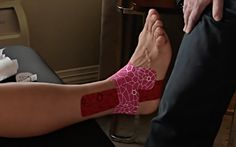 Ankle Sprain Kinesiology Taping Technique #TapeTuesday