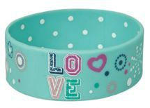 Blue Love Silicone Bracelet by - These colorful silicone bracelets feature inspiring scriptures for christian youth. This one reads: LOVESize: 2 (W) x (H) Bible Bag, Christian Bracelets, Jewish Jewelry, Silicone Bracelets, Kids Jewelry, Christian Gifts, Bracelet Designs, Dog Bowls, Best Gifts