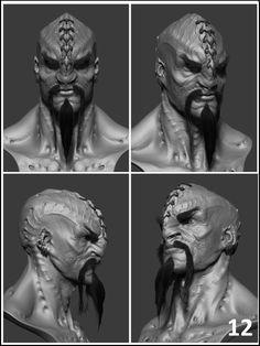 STAR TREK INTO DARKNESS Klingon Concept Art by Neville Page.