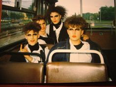 Cure fans expressing themselves on the bus in Hungary - 90's