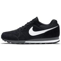 Nike MD RUNNER 2 BLACK TRAINERS NEW UK SIZE 9 EU 43 FASHION SPORTS LEATHER #Nike #Trainers