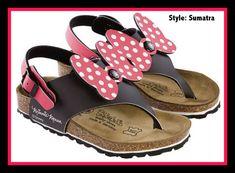 Birkis by Birkenstock Sumatra Sandals Disney - Color Minnie Ribbon - Birko-Flor Little Doll, My Little Girl, My Baby Girl, Cute Kids, Cute Babies, Baby Kids, Baby Birkenstocks, Little Girl Fashion, Kids Fashion