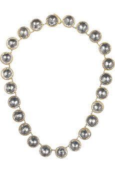 Larkspur & Hawk Olivia Button gold-dipped topaz rivière necklace   NET-A-PORTER