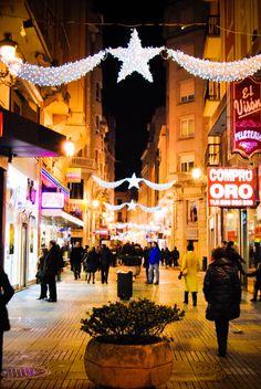 Christmas lights in Santander, Spain