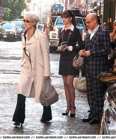 the devil wears prada -------- not a dress, but I love Anne Hathaway's outfit in this scene!